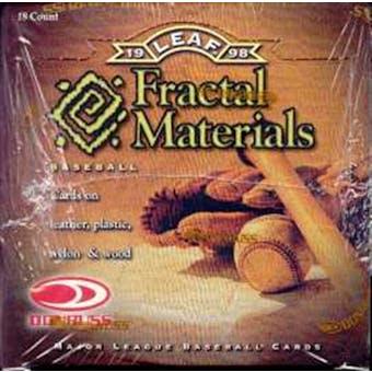 1998 Leaf Fractal Materials Baseball Hobby Box