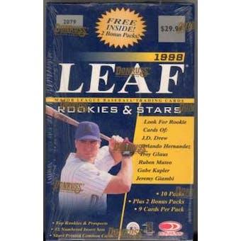 1998 Leaf Rookies & Stars Baseball 12 Pack Box