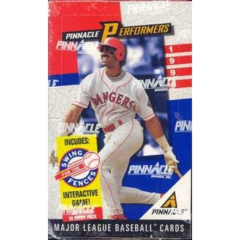 1998 Pinnacle Performers Baseball Hobby Box