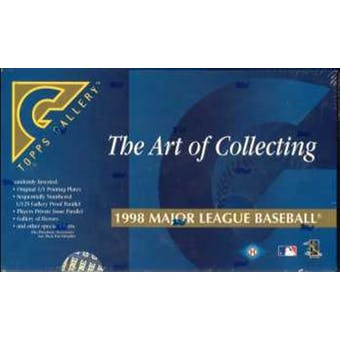 1998 Topps Gallery Baseball Hobby Box
