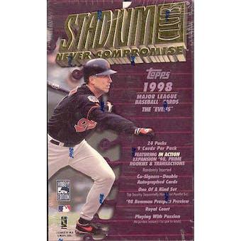 1998 Topps Stadium Club Series 2 Baseball Hobby Box