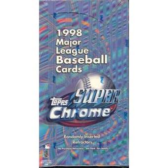1998 Topps Super Chrome Baseball Box