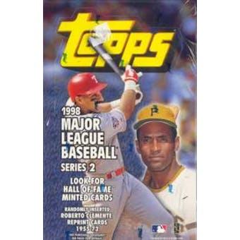 1998 Topps Series 2 Baseball 36 Pack Box