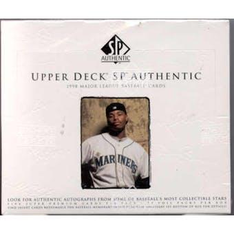 1998 Upper Deck SP Authentic Baseball Hobby Box