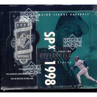 1998 Upper Deck SPx Finite Series 2 Baseball Hobby Box