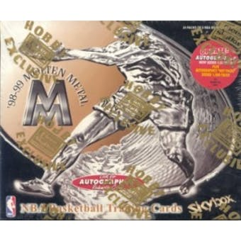 1998/99 Skybox Molten Metal Basketball Hobby Box