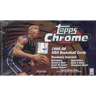 1998/99 Topps Chrome Basketball 24 Pack Box
