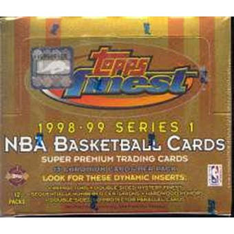 1998/99 Topps Finest Series 1 Basketball Jumbo Box