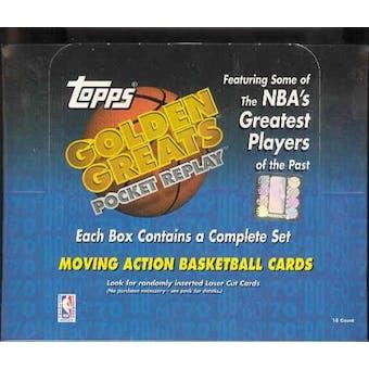 1998/99 Topps Golden Greats Pocket Replay Basketball Box