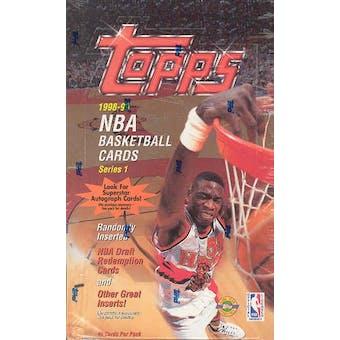 1998/99 Topps Series 1 Basketball Jumbo Box