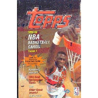 1998/99 Topps Series 1 Basketball Hobby Box