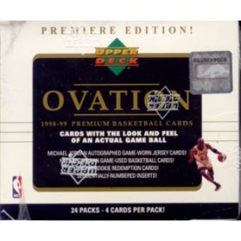 1998/99 Upper Deck Ovation Basketball Hobby Box