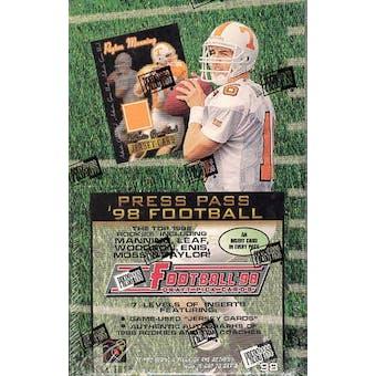 1998 Press Pass Football Hobby Box