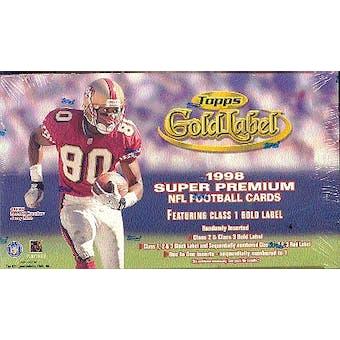 1998 Topps Gold Label Football Hobby Box