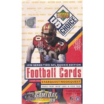 1998 Upper Deck Choice Series 2 Football Hobby Box
