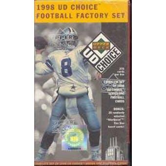 1998 Upper Deck Choice Series 1 Football Factory Set (Box)