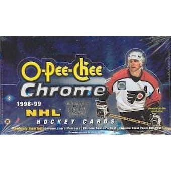 1998/99 O-Pee-Chee Chrome Hockey Wax Box