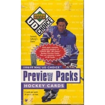 1998/99 Upper Deck Choice Preview Hockey Box
