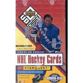 1998/99 Upper Deck Choice Hockey 36-Pack Retail Box