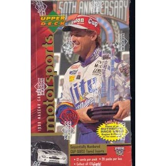 1998 Upper Deck Road To The Cup Racing Retail Box