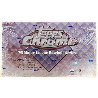 1998 Topps Chrome Series 1 Baseball Hobby Box