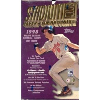 1998 Topps Stadium Club Series 1 Baseball Hobby Box