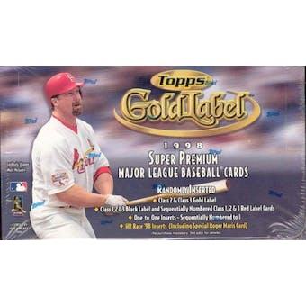 1998 Topps Gold Label Baseball 24 Pack Box