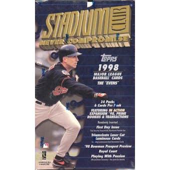 1998 Topps Stadium Club Baseball 24 Pack Box