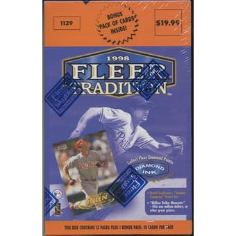 1998 Fleer Tradition Series 1 Baseball Retail 14 Pack Box