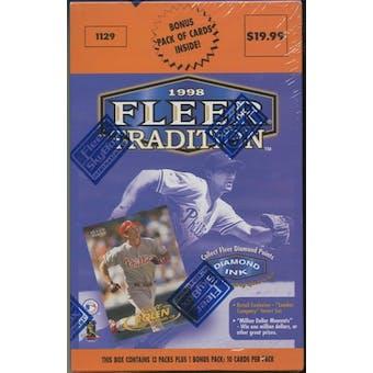 1998 Fleer Tradition Series 1 Baseball Retail 14 Pack Box