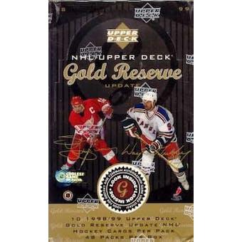 1998/99 Upper Deck Gold Reserve Hockey Hobby Box