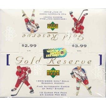 1999/00 Upper Deck Gold Reserve Series 1 Hockey Box