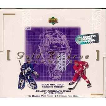 1999/00 Upper Deck Gold Reserve Series 2 Update Hockey Hobby Box