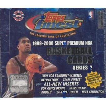 1999/00 Topps Finest Series 2 Basketball Jumbo Box