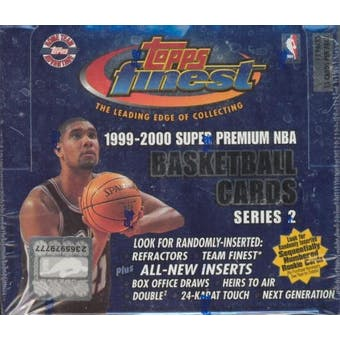 1999/00 Topps Finest Series 2 Basketball Jumbo Box
