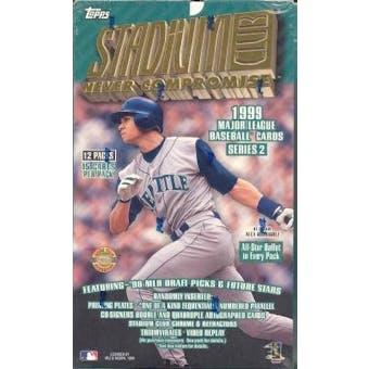 1999 Topps Stadium Club Series 2 Baseball Jumbo Box
