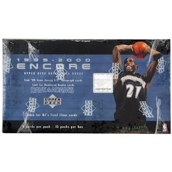 1999/00 Upper Deck Encore Basketball Hobby Box
