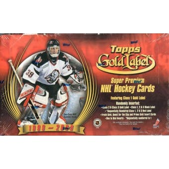 1999/00 Topps Gold Label Hockey Retail 24 Pack Box