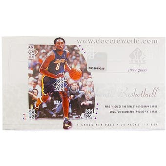 2950bd72e 1999 00 Upper Deck SP Authentic Basketball Hobby Box