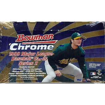 1999 Bowman Chrome Series 2 Baseball Hobby Box