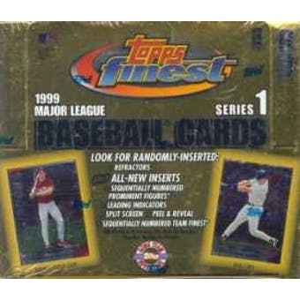 1999 Topps Finest Series 1 Baseball Jumbo Box