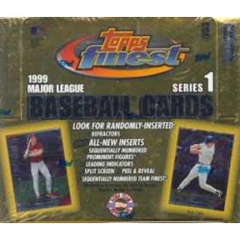 1999 Topps Finest Series 1 Baseball Jumbo Box