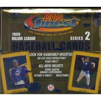 1999 Topps Finest Series 2 Baseball Hobby Box