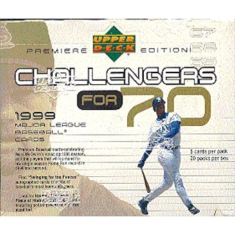 1999 Upper Deck Challengers for 70 Baseball Hobby Box