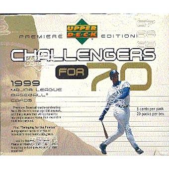 1999 Upper Deck Challengers for 70 Baseball Hobby Box