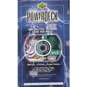 1999 Upper Deck PowerDeck Baseball Hobby Box