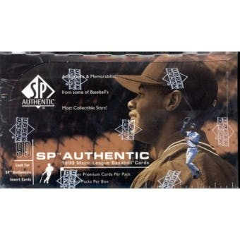 1999 Upper Deck SP Authentic Baseball Hobby Box
