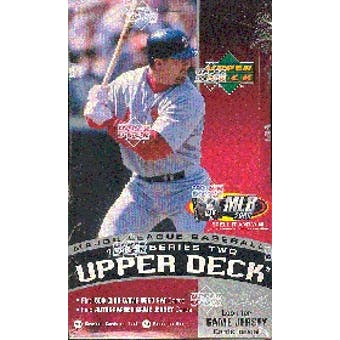 1999 Upper Deck Series 2 Baseball Hobby Box