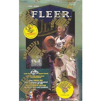 1999/00 Fleer Ultra Basketball Hobby Box