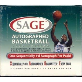 1999/00 Sage Autographed Basketball Hobby Box